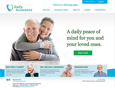Daily Assurance Home Page Design