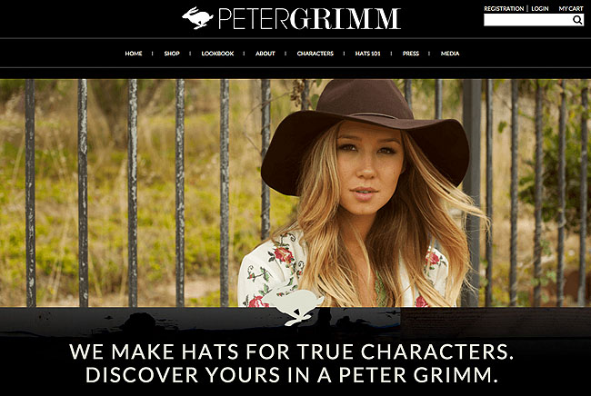 Peter Grimm Website Design